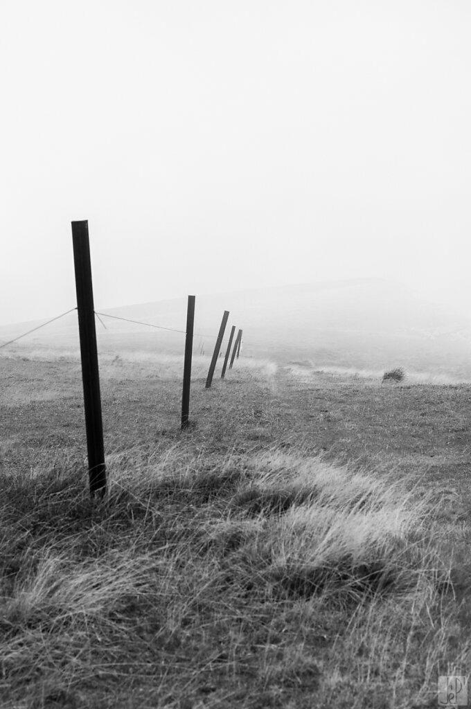 Le chemin est dans le brouillard