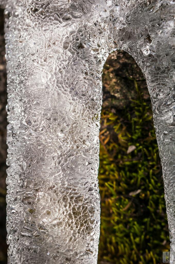Cuir de glace sur mousse